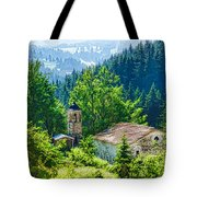 The Village Church - Impressions Of Mountains And Forests Tote Bag
