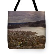 The Village Of Cold Spring And The Hudson River Tote Bag