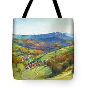 The Village Of Wieden In The Black Forest Tote Bag