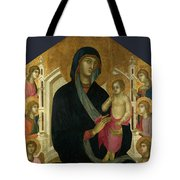 The Virgin And Child With Six Angels Tote Bag