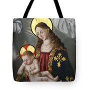 The Virgin And The Child With The Parrot Tote Bag