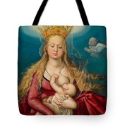 The Virgin As Queen Of Heaven Suckling The Infant Christ Tote Bag