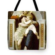 The Virgin The Baby Jesus And Saint John The Baptist Tote Bag