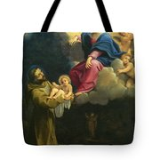 The Vision Of Saint Francis  Tote Bag by Carracci Ludovico