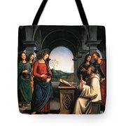 The Vision Of St Bernard Tote Bag