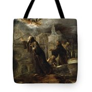 The Vision Of St Francis Of Paola Tote Bag