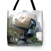 The W T C Fountain Sphere Tote Bag