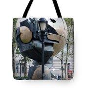The W T C Plaza Fountain Sphere Tote Bag