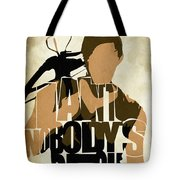 The Walking Dead Inspired Daryl Dixon Typographic Artwork Tote Bag