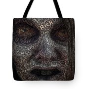 The Walking Dead Names Zombie Mosaic Tote Bag