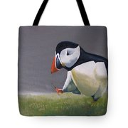The Walking Puffin Tote Bag by Eric Burgess-Ray