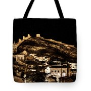 The Walls Of Albarracin In The Summer Night Spain Tote Bag