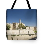 The Walls Of Jerusalem Old Town Israel Tote Bag
