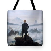 The Wanderer Above The Sea Tote Bag