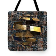 The Wandering Pyramid Tote Bag by Peter R Nicholls