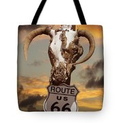 The Warmth Of Route 66 Tote Bag