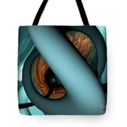 The Watcher Abstract Tote Bag