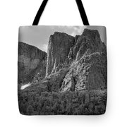 209619-bw-the Watchtower, Wind Rivers Tote Bag