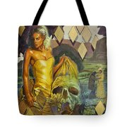 Blood In The Water Tote Bag