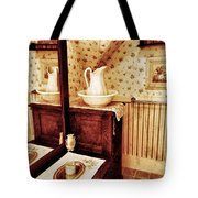 The Water Pitcher And Wash Basin Tote Bag
