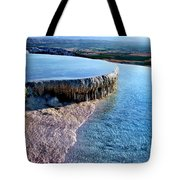 The Water With White Paint Tote Bag