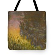The Waterlilies At Setting Sun Tote Bag