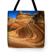 The Wave Wonder In Stone Tote Bag