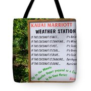 The Weather Report Tote Bag
