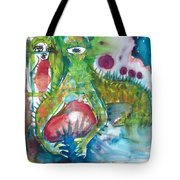 the WEDDING of the RABBITS Tote Bag