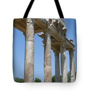 The Western Pediment Of The Tetrapylon Tote Bag by Tracey Harrington-Simpson