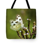 The Western White Tote Bag