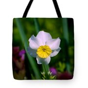 The White And Yellow Daffodil Tote Bag