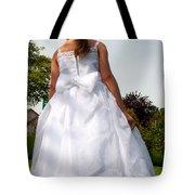 The White Dress Tote Bag
