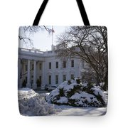 The White House In Winter Tote Bag