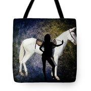 The White Mule Tote Bag
