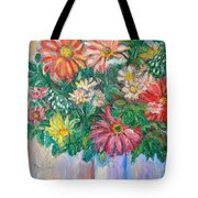 The White Vase Tote Bag