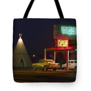The Wigwam Motel On Route 66 Panoramic Tote Bag