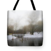 The Willows In Winter - Newtown Square Pa Tote Bag