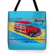 The Willys - Overland Jeep Station Wagon Tote Bag