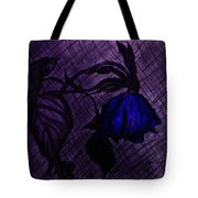 The Wilted Blue Rose Tote Bag