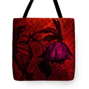 The Wilted Pink Rose Tote Bag