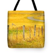 The Winding Road The Crooked Fence And The Bluebird Tote Bag