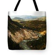 The Winding Yellowstone Tote Bag