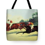 The Winning Post In Sight Tote Bag by Henry Stull