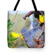 The Wise Owl Padlock - Cambria California  Tote Bag