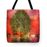 The Wishing Tree One Of Two Tote Bag by Betsy Knapp