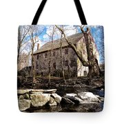 The Wissahickon Creek And Mather Mill Tote Bag