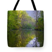 The Wissahickon Creek In The Morning Tote Bag
