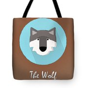 The Wolf Cute Portrait Tote Bag
