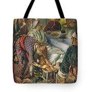 The Woman With The Box Of Ointment Tote Bag by Harold Copping